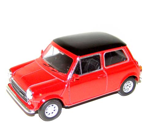 Auto 1:34 Welly Mini Cooper 1300 červený