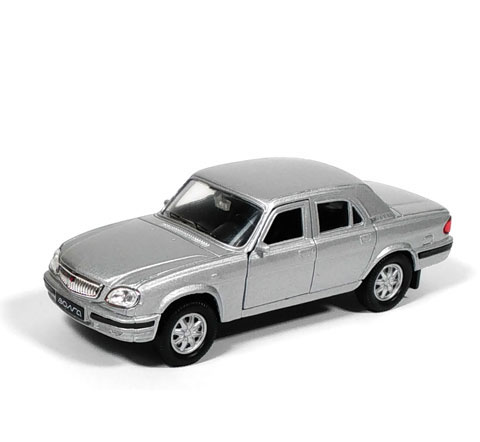 Auto 1:34 Welly GAZ 31105 Volga šedá