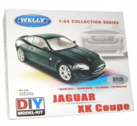 Auto 1:24 Welly Jaguar XK Coupe zelený