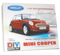 Auto 1:24 Welly Mini Cooper červený