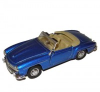 Auto 1:34 Welly Mercedes Benz 55 190SL modrý