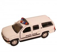 Auto 1:34 Welly 01Chevrolet Suburban Police