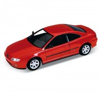 Auto 1:34 Welly Peugeot 406 coupé červený