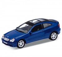Auto 1:34 Welly MB C-class Sport Coupe modrý