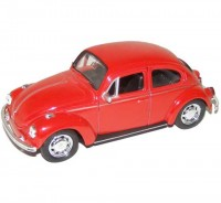 Auto 1:34 Welly VW Beetle červený
