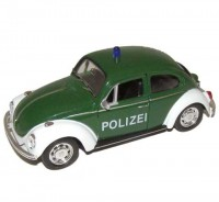 Auto 1:34 Welly Volkswagen Beetle Polizei