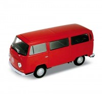 Auto 1:34 Welly 1972 VW T2 Bus červený