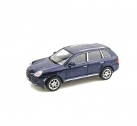 Auto 1:34 Welly Porsche Cayenne Turbo modrý