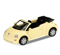 Auto 1:34 Welly VW New Beetle žltý
