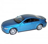 Auto 1:34 Welly BMW 645Ci modrý