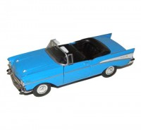 Auto 1:34 Welly Chevrolet 57 Bel Air modrý