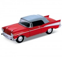 Auto 1:34 Welly Chevrolet 57 Bel Air červený