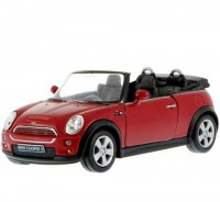 Auto 1:34 Welly Mini Cooper S cabrio červený