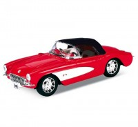 Auto 1:34 Welly Chevrolet 57 Corvette červená