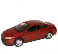 Auto 1:34 Welly Peugeot 407 coupé červený