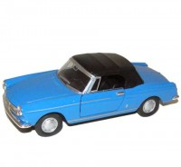 Auto 1:34 Welly Peugeot 404 Cabriolet modrý