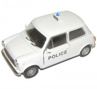 Auto 1:34 Welly Mini Cooper 1300 policajný