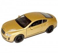 Auto 1:34 Welly Bentley Continental Supersports zlatý