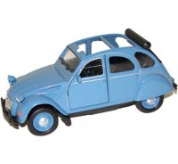 Auto 1:34 Welly Citroen 2CV modrý