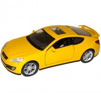 Auto 1:34 Welly Hyundai Genesis Coupe žltý