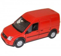 Auto 1:34 Welly Ford Transit Connect červený