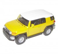 Auto 1:34 Welly Toyota FJ Cruiser žltá