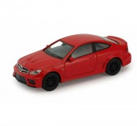 Auto 1:34 Welly Mercedes Benz C63 AMG Coupe červený