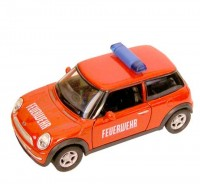 Auto 1:34 Welly Mini Cooper hasičský