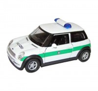 Auto 1:34 Welly Mini Cooper Polizei zelený