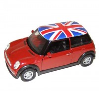 Auto 1:34 Welly Mini Cooper UK strecha