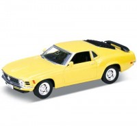 Auto 1:34 Welly Ford 70 Mustang Boss 302  žltý