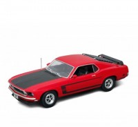 Auto 1:18 Welly 1969 Ford Mustang modrý