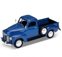 Auto 1:24 Welly Chevrolet 3100 Pick Up modrý