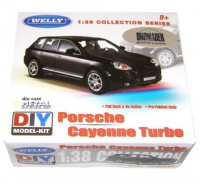 Auto 1:38 Welly Porsche Cayenne turbo čierne