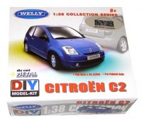 Auto 1:38 Welly Citroen C2 modrý