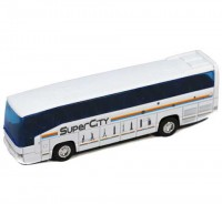 Autobus Welly 1:60 Mercedes Benz MB 0 303 RHD biely