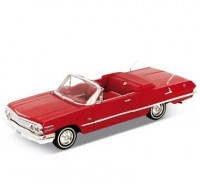 Auto 1:24 Welly CHEVROLET IMPALA 1963 červená
