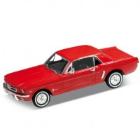 Auto 1:24, Welly FORD MUSTANG 1964 coupe červený