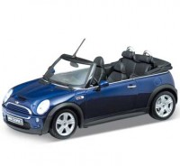 Auto 1:24 Welly MINI COOPER S CABRIO modrý