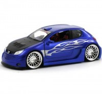 Auto 1:24 Welly PEUGEOT 206 TUNNING
