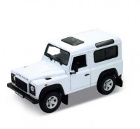 Auto 1:24 Welly LAND ROVER DEFENDER biely