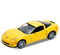 Auto 1:24 Welly CHEVROLET CORVETTE Z06 2007 červená
