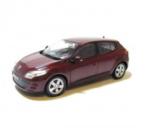 Auto 1:24 Welly Renault Megane 2009 bordový