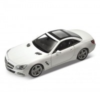 Auto 1:24 Welly 2012 Mercedes Benz SL500 biely