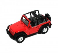 Auto 1:34 Welly Jeep Wrangler Rubicon červený
